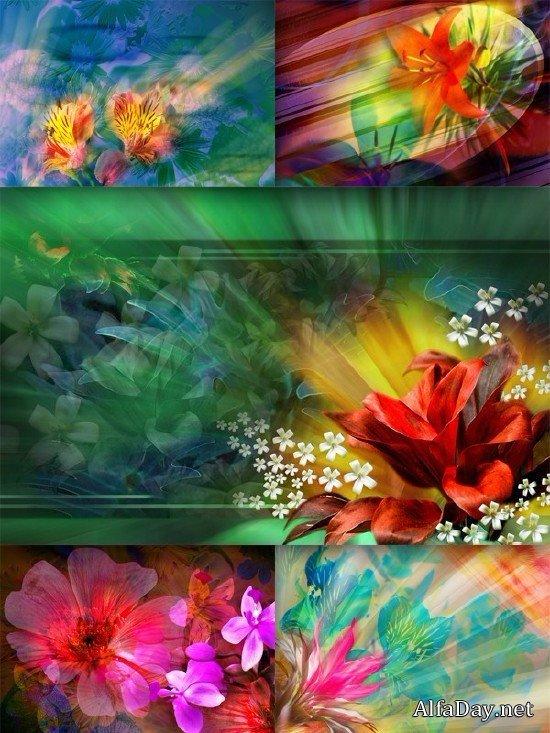 Фоны: Цветочная абстракция (подборка клипарта)