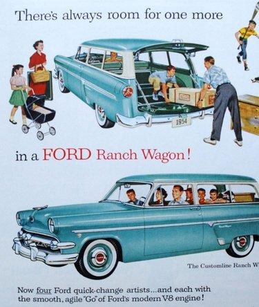 плакат ford ретро