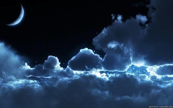 Фото ночного неба - Звездное небо картинки облаков - Фото мир природы