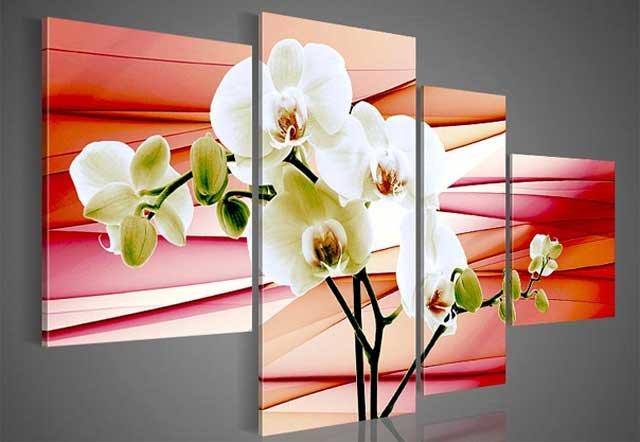 фото постера орхидеи в интерьере квартиры