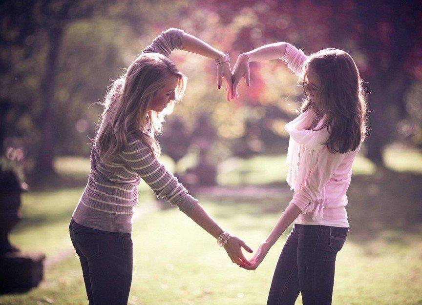 Картинки о любви к подруге