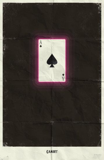 Gambit. Минималистичный постер