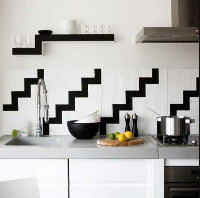 Геометрический узор на кухне