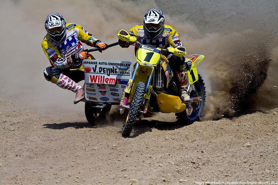 гонки, мотоцикл с коляской