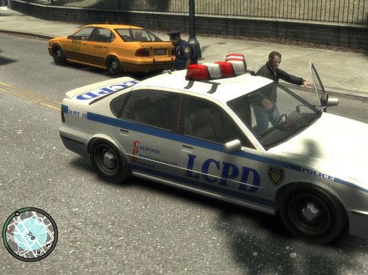 Grand Theft Auto IV, полицейский автомобиль