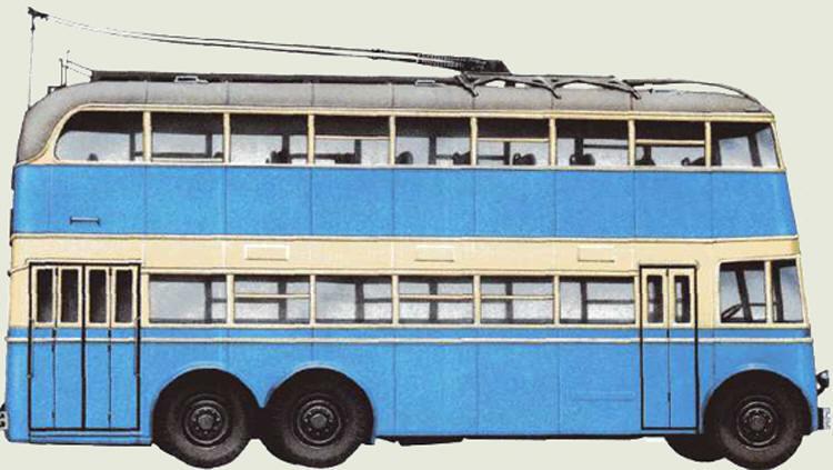 ЯТБ-3 советский двухэтажный троллейбус