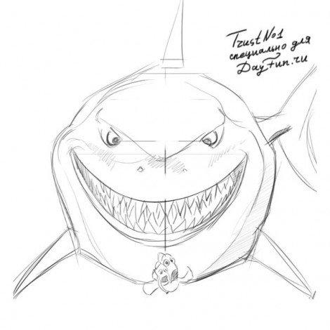 Как нарисовать рыбку Немо? 5