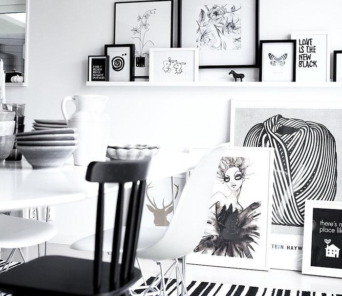 Как создать черно-белый интерьер