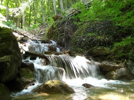 Каскад водопадов на реке Курлюк-Су