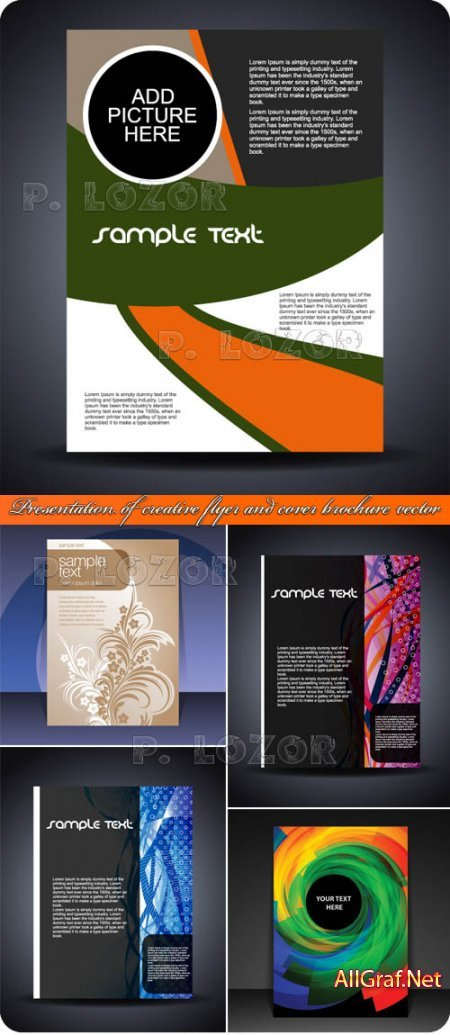 Креативные обложки флаеры и брошюры