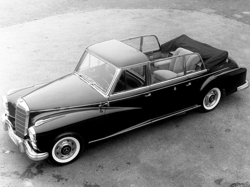 Mercedes-Benz 300d Pullman Landaulet Popemobile (W189) 1960 wallpapers обои на рабочий стол бесплатно скачать