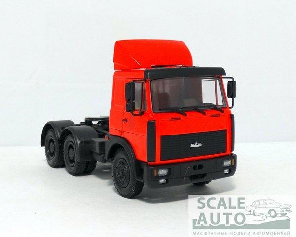 модель в масштабе 1/43 МАЗ-64226 седельный тягач (1989-93), красный