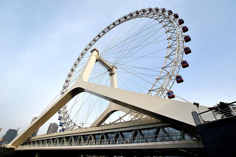"Мост с колесом обозрения ""Око Тяньцзиня"" (Tianjin Eye Bridge)"