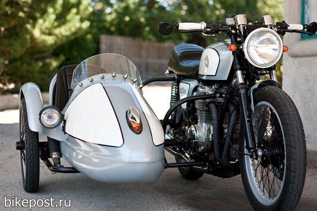 Мотоцикл Honda CB550 с коляской (1978)