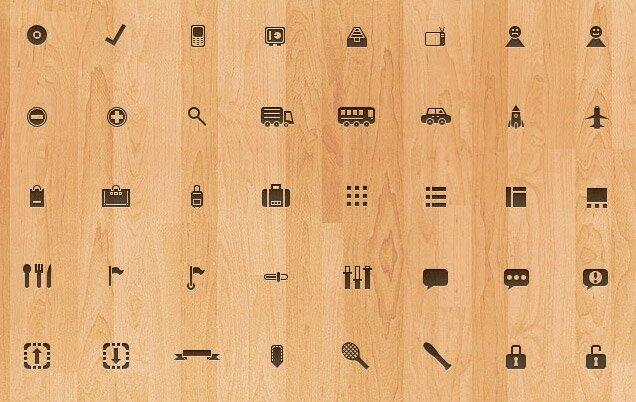Набор из 100 иконок - исходник PSD