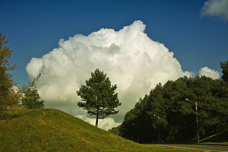 Небо, облака / природа, небо, тучи, облака, радуга, светило