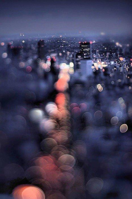 Ночной Токио и великолепный боке в исполнении Takashi Kitajima