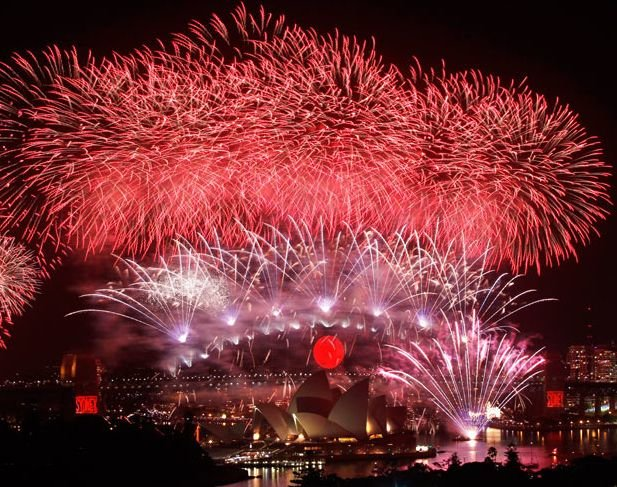 Новогодние феерверки в разных странах мира