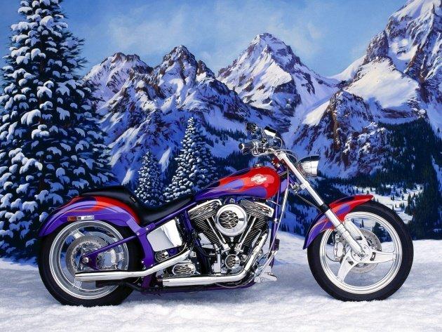 Обои Harley-Davidson Custom Chrome, фото, картинки