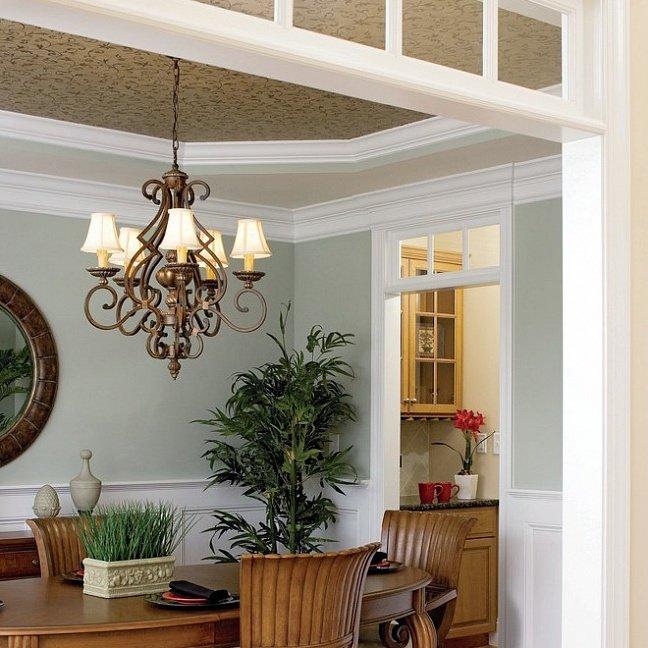 Опорный проект для организации столовой дома в классическом стиле. Фото N2461