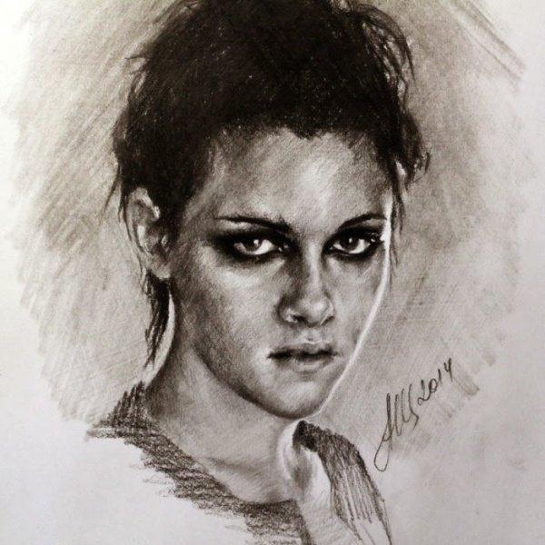 Портрет девушки карандашом