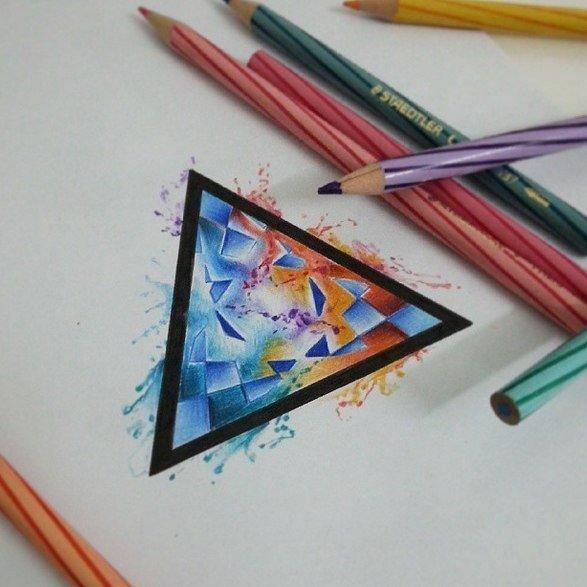 Радужные рисунки от Den Fok » Prostoykarandash.ru - Уроки рисования карандашом, уроки живописи маслом и акварелью