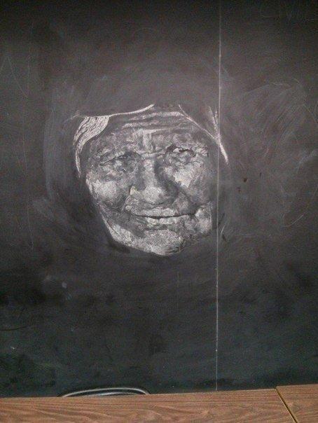 Рисунок мелом на доске
