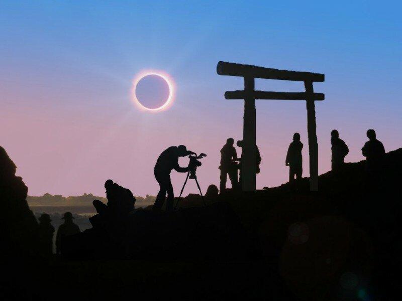 Самые потрясающие фото солнечного затмения (14 фото)