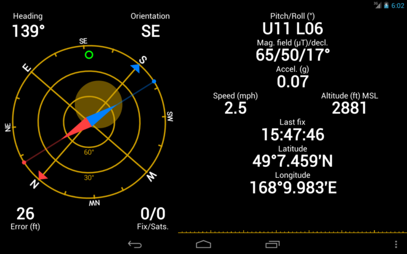 Скриншот программы GPS Status & toolBox