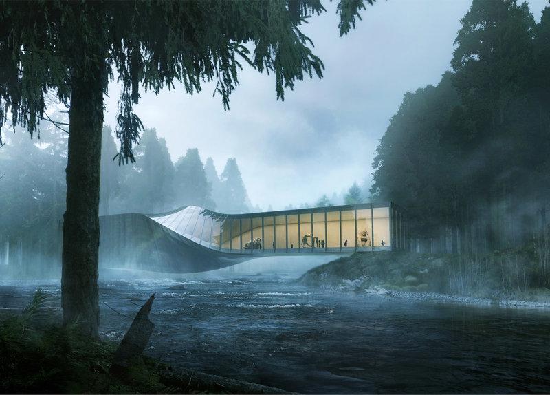 Скрученный мост-музей в Норвегии