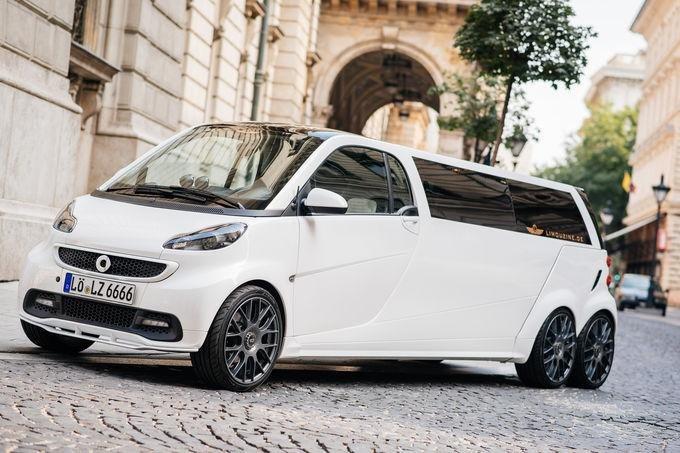Smart во Франкфурте покажет шестиколесный лимузин: фото