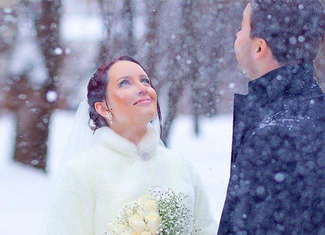 Свадебный портрет зимой