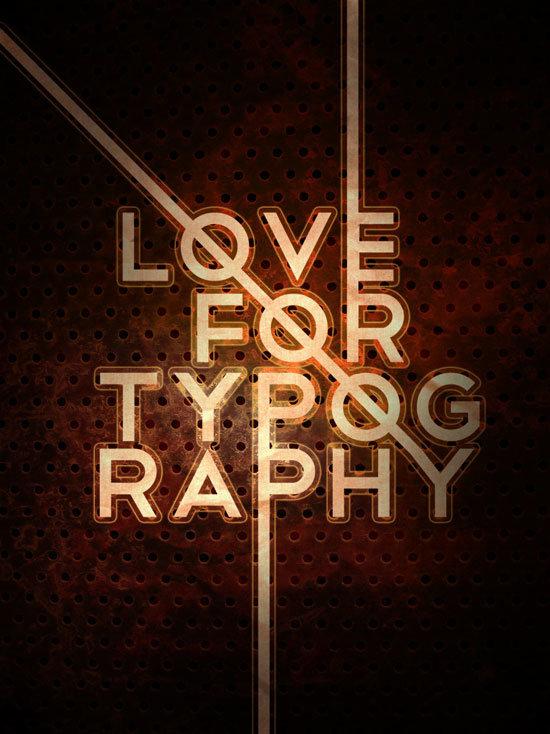 Типографический постер в модном ретро стиле