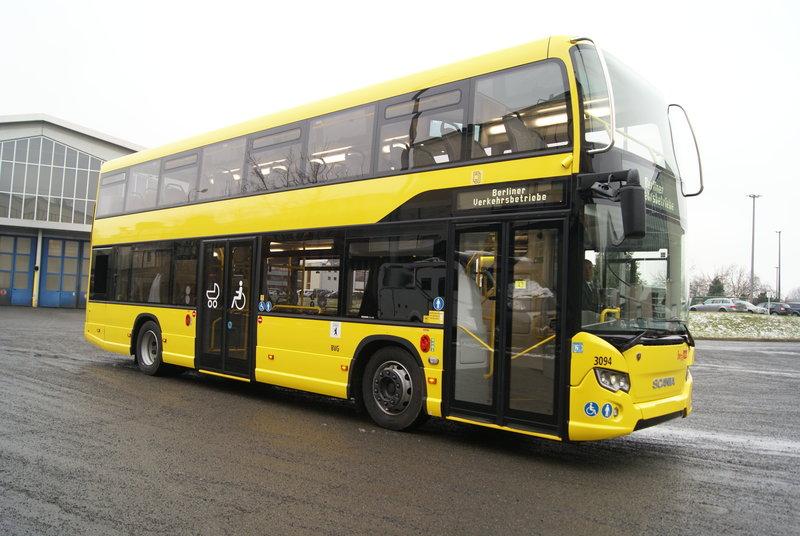 В Берлине на маршрут выйдет новый двухэтажный автобус Scania | Пресс-центр