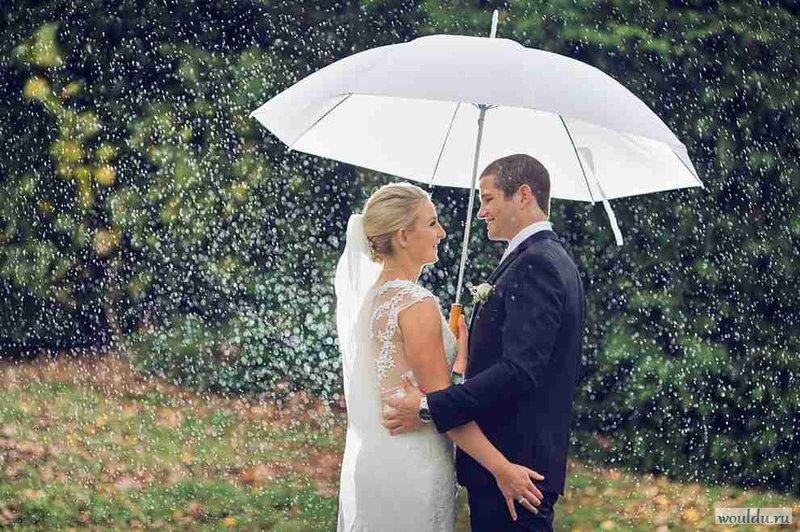 зонтик свадьба