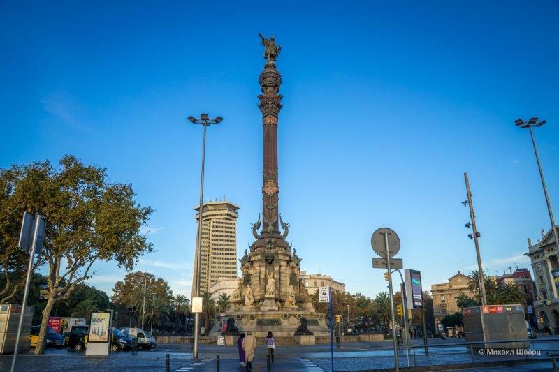 Нужно сказать, что практически в каждом испанском городе имеется памятник Колумбу. В каком городе установлен этот памятник Х. Колумбу? В Барселоне. На этом самом месте Колумб рассказал о своем открытии!