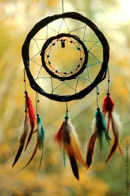 По легенде, родина ловца снов – Северная Америка. Индейцам именно этого материка приписывают его изобретение. Легенда гласит о том, что пожилому вождю индейского племени лакота было видение, в котором его посетил духовный наставник и учитель в образе паука. Во время разговора о смысле жизни и бытия, паук взял ветвь ивы, согнул ее в кольцо, украсил перьями и сплел внутри кольца паутину, оставив лишь небольшое отверстие в самой середине.