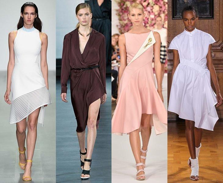 асимметричные платья весна лето 2015