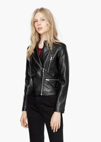 Байкерская куртка | MANGO