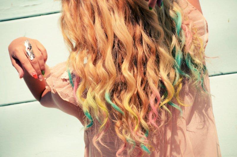 «Боевая раскраска» - цветные мелки для волос