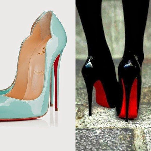 Туфли-лодочки с красной подошвой от Christian Louboutin