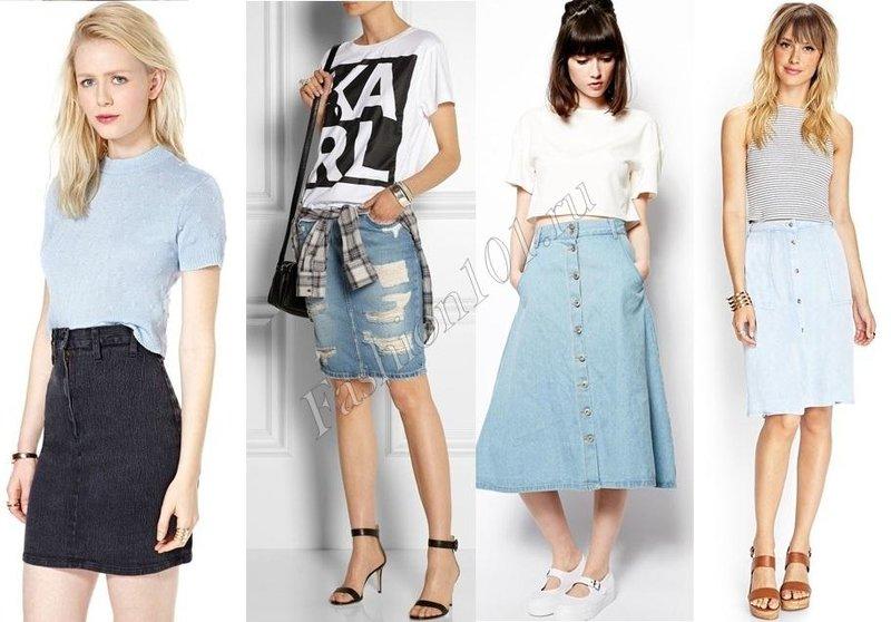 джинсовая юбка и уличный стиль