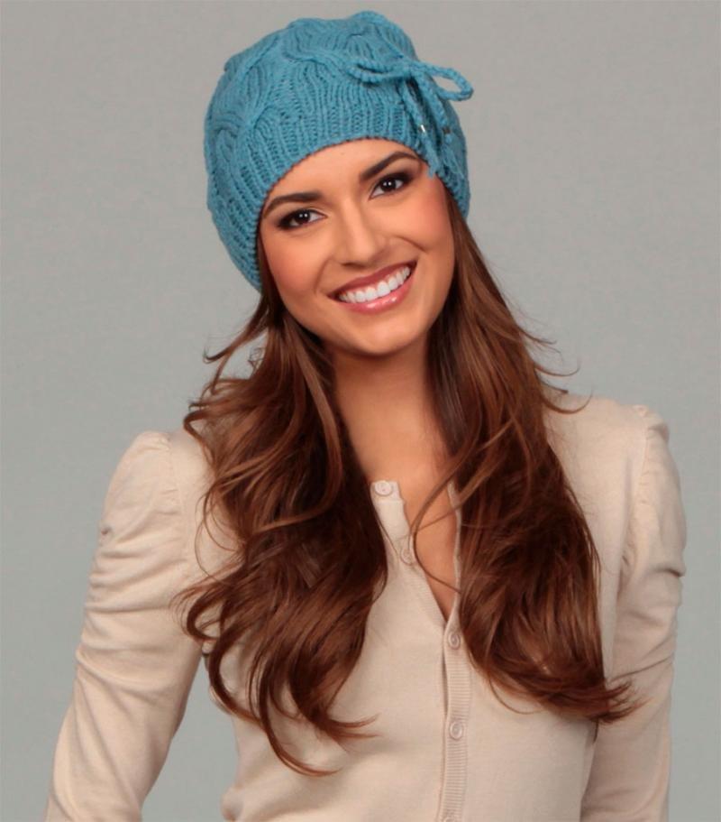Фото женских вязаных шапок
