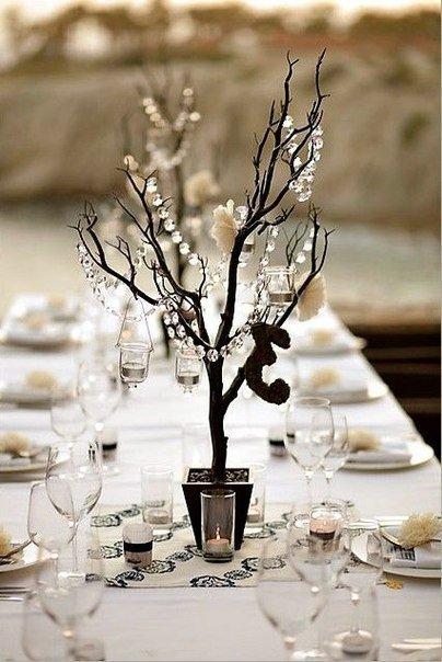 Используем сухие ветки в свадебном декоре - Декор своими руками