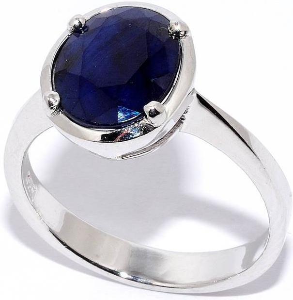 Кольцо из серебра, сапфир 210023-32-163