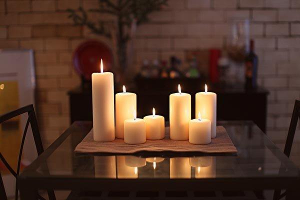 Красивые свечи в интерьере