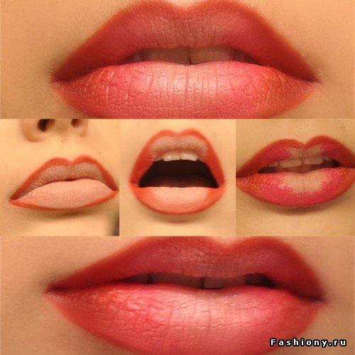 Макияж губ в стиле Омбре(МК) / техника в макияже омбре