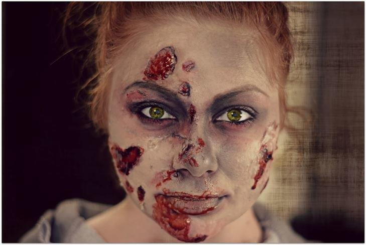 Макияж зомби на Хэллоуин 2015: фото, видео как сделать своими руками
