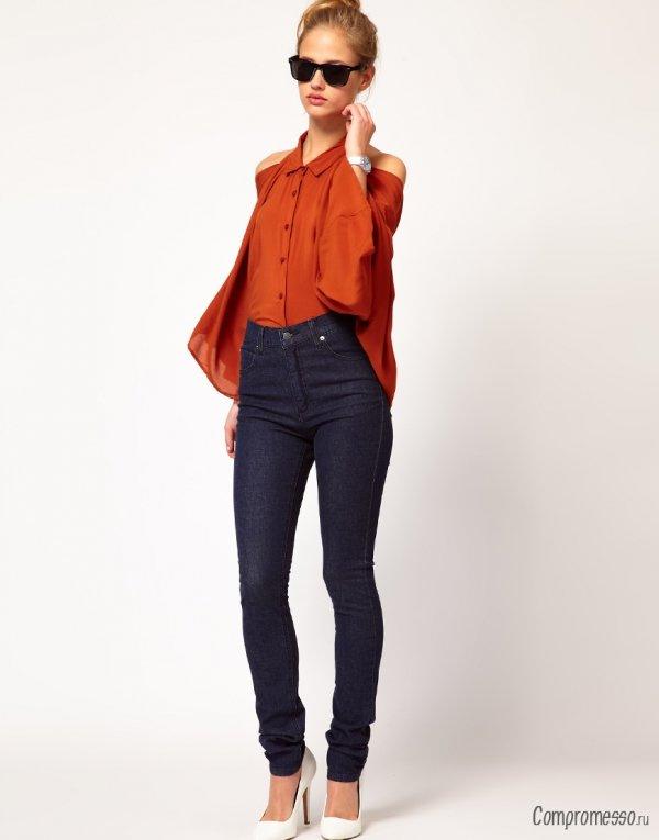 Модели узких джинсов с высокой талией – правила выбора и комплектования
