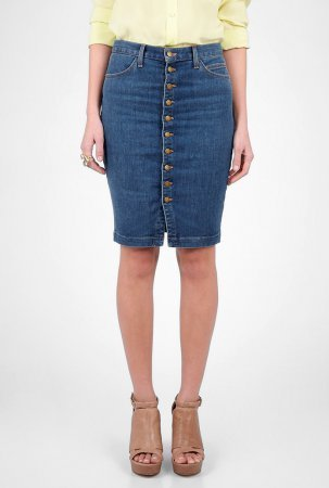 Модные джинсовые юбки